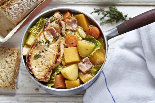 Pork with Parsnips and cider